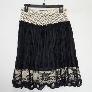 K Ladies Apparel Lace Boho Skirt